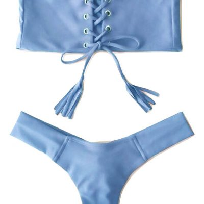 bikini straple azul push up dos piezas_burned